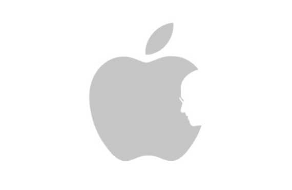 570x370 Apple Logo With Silhouette Outline Of Steve Jobs As Bite In Apple