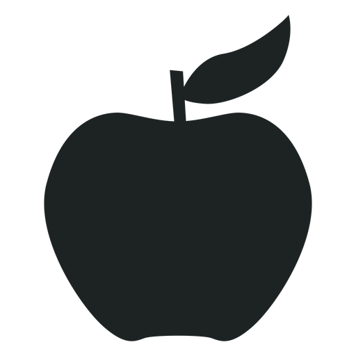 512x512 Apple Silhouette Icon