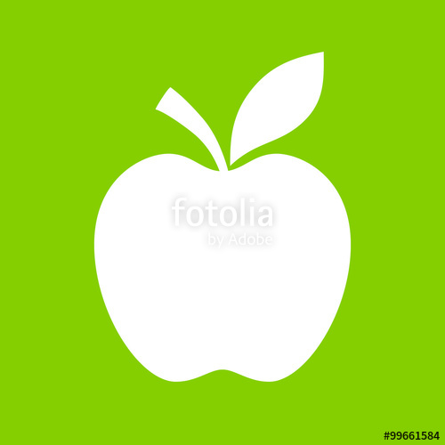 500x500 Apple Vector Silhouette Icon Stock Image And Royalty Free Vector