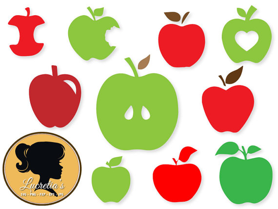 Apple Silhouette Vector