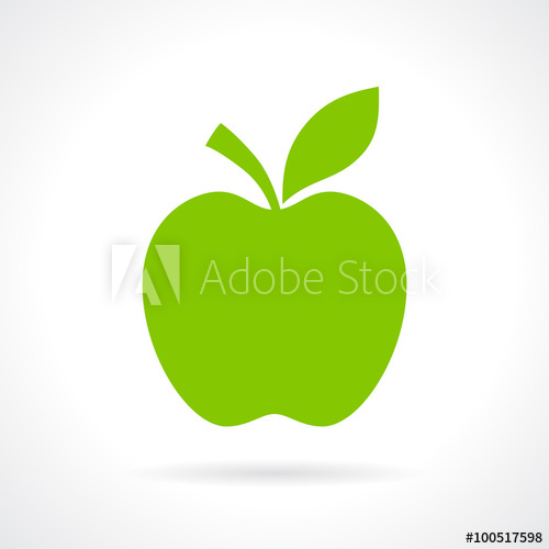 500x500 Apple Silhouette Icon