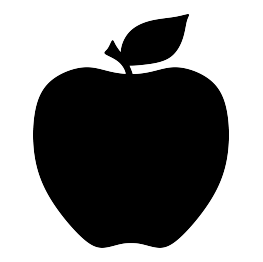 263x262 Free Svg Apple Silhouette Graphics Silhouettes
