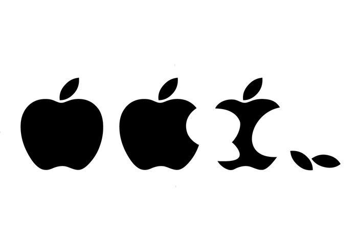 700x490 Free Eaten Apple Logo Vector