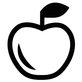 283x283 Apple Silhouette Silhouette Of Apple