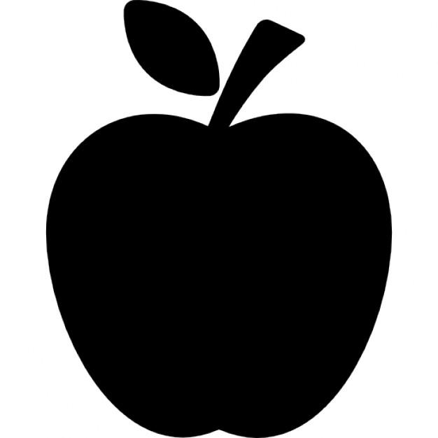 626x626 Apple Clipart Silhouette