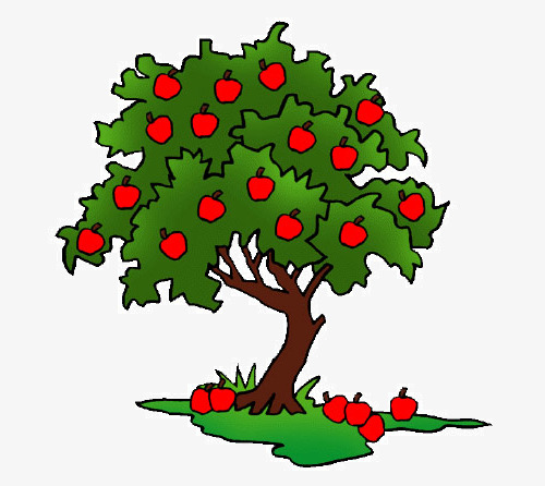 500x446 Cartoon Apple Tree, Fruit, Apple, Red Png Image And Clipart
