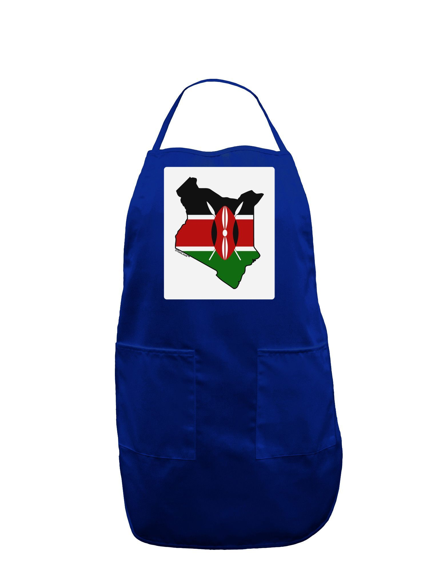 1550x1978 Kenya Flag Silhouette Panel Dark Adult Apron Kenya Flag, Flags