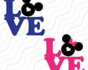 340x270 Love Mickey Mouse Svg,disney Valentine Svg,love Quote Svg Cut