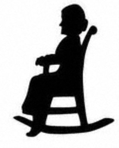 400x500 Grandma With Pot Silhouette Clipart