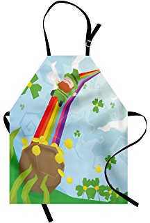 216x320 Interestprint St. Patrick's Day Clover Apron For Women