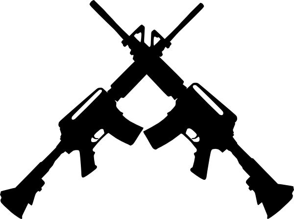 600x447 Crossed Ar15 Clip Art At Clker Com Vector Clip Art Online Royalty