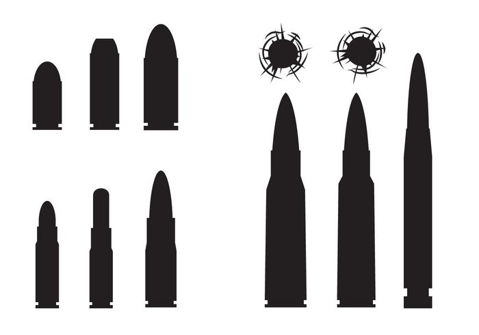 700x490 Free Bullets And Bullets Hole Vector