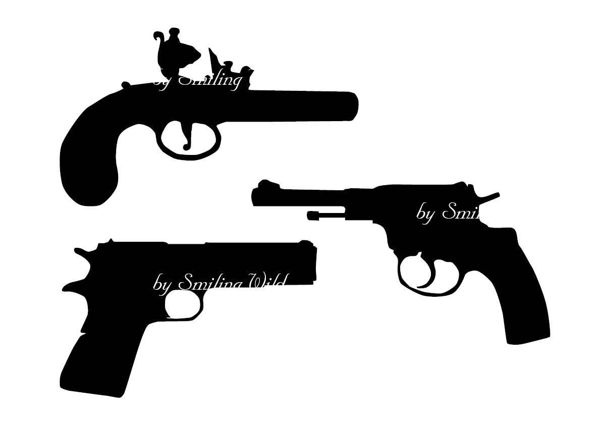1191x842 Gun Svg Silhouette Clipart Vintage Guns Historical Gun Vector Art