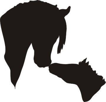 Arabian Horse Head Silhouette