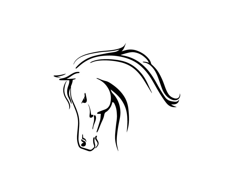 1142x933 Arabian Horse Head Download Unique Animal Svg Dxf Eps Ai