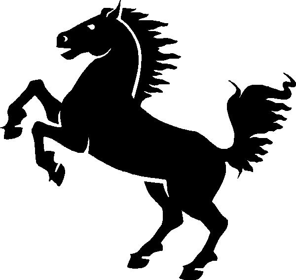 600x568 Black Horse Clip Art Free Vector 4vector