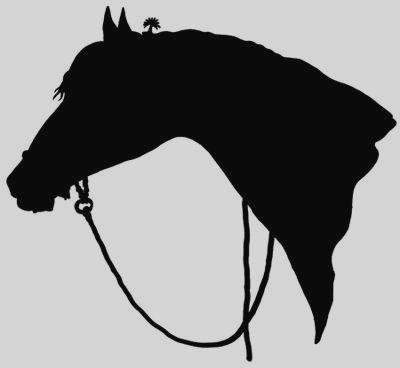 400x368 Clipart Horse Head Silhouette