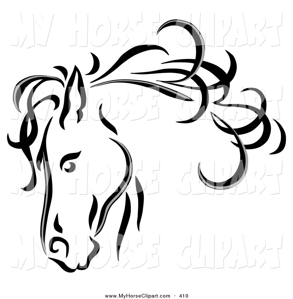 Arabian Horse Head Silhouette at GetDrawings.com | Free for personal ...