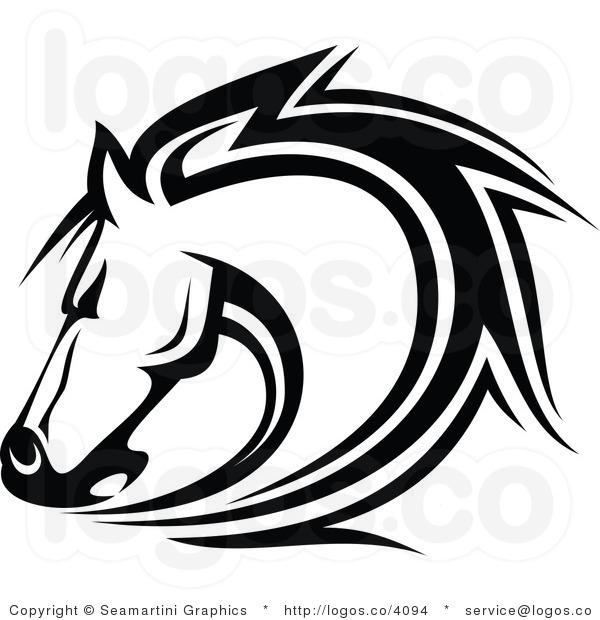 600x620 Tribal Horse Clipart