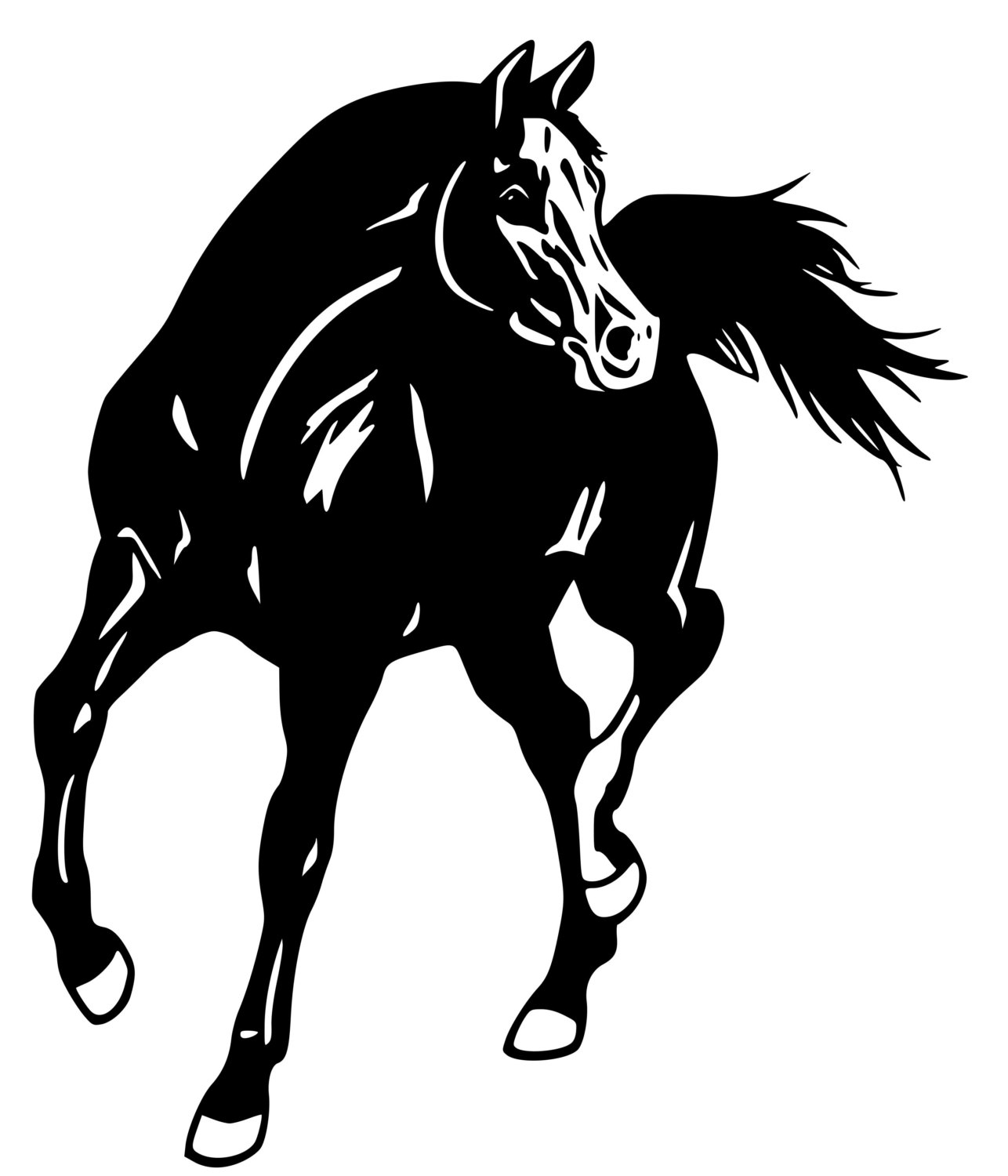 1286x1500 Horse Arabian Horse Wall Decal Horse Sticker 28 Inches X 29