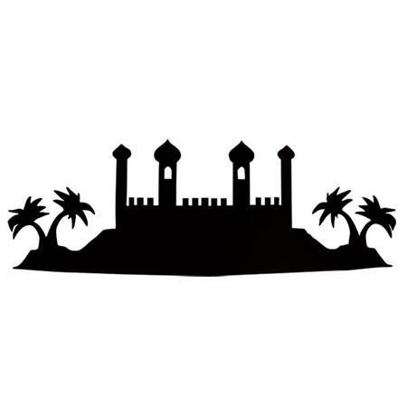 450x450 Black Arabian Silhouette Kit Aladdin Silhouette