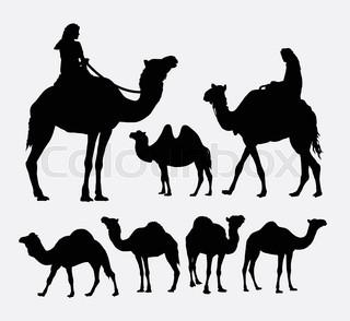 320x294 Camel Silhouette Stock Vector Colourbox