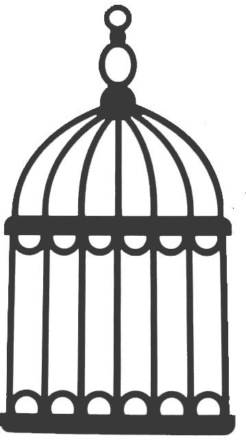 359x640 Birdcage Clipart Silhouette