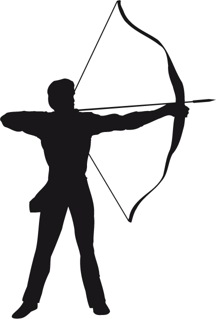432x638 Archery Silhouette Archery Archery, Silhouettes