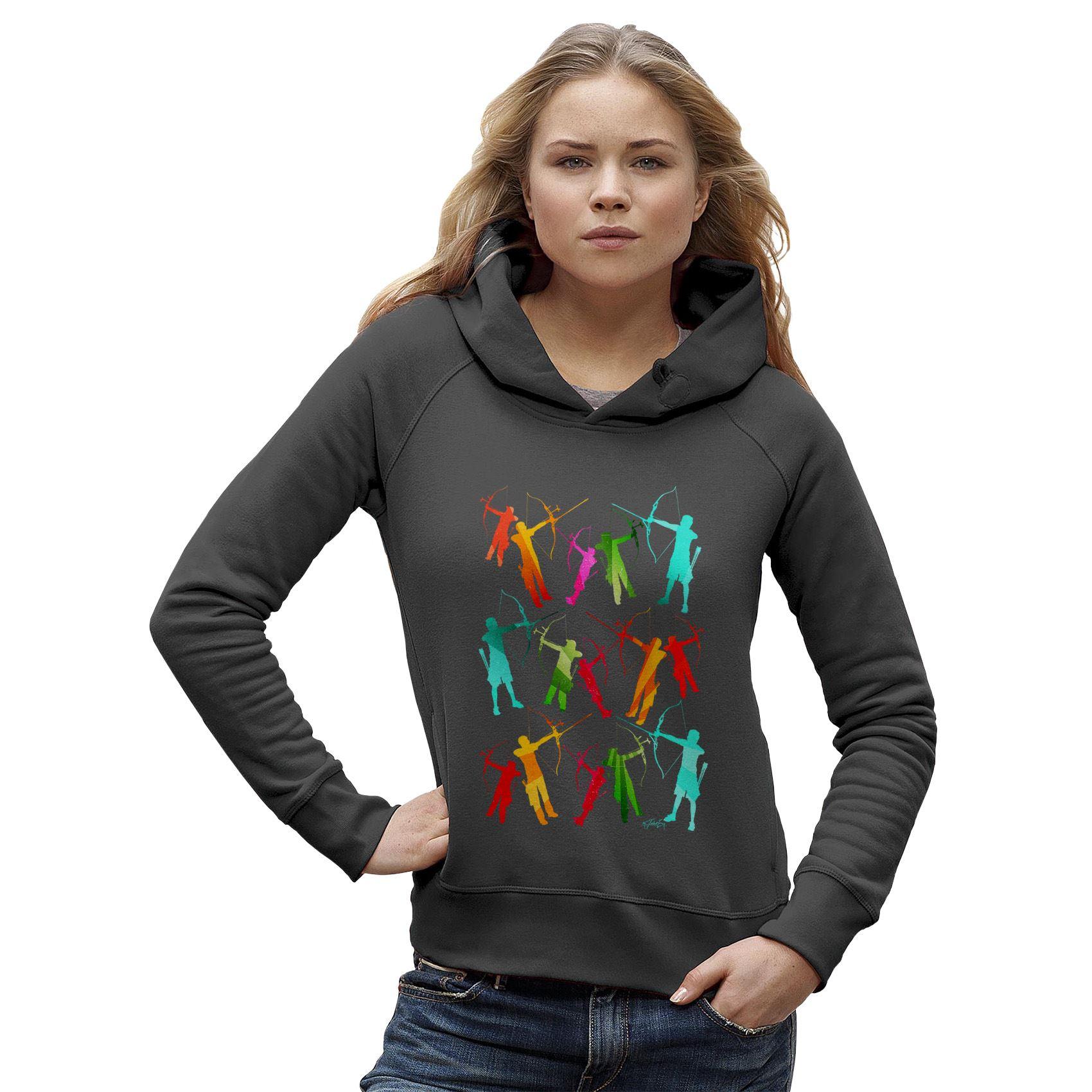 1700x1700 Twisted Envy Women's Archery Rainbow Silhouette Hoodie Ebay