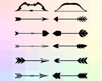 340x270 Bow And Arrow Svg Etsy
