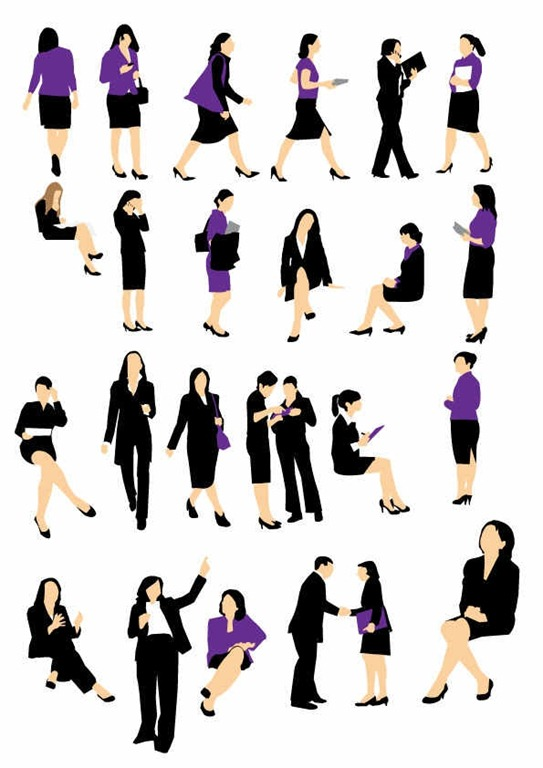 543x768 Awesome People Silhouette Vector Sets