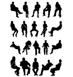 236x248 Sitting Silhouette People