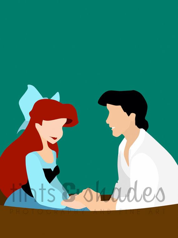 570x760 Ariel And Eric On A Romantic Boat Trip The Little Mermaid