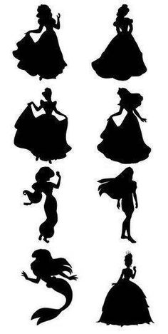 236x468 Disney Princess Silhouettes Clip Art