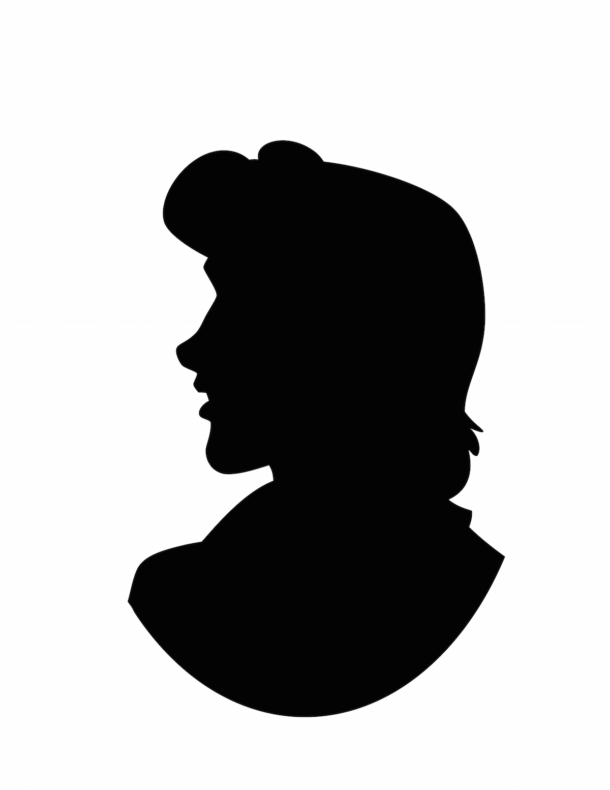 1200x1553 Ariel And Eric Silhouette The Little Mermaid