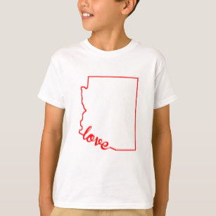 307x307 State Of Arizona Silhouette T Shirts Amp Shirt Designs Zazzle