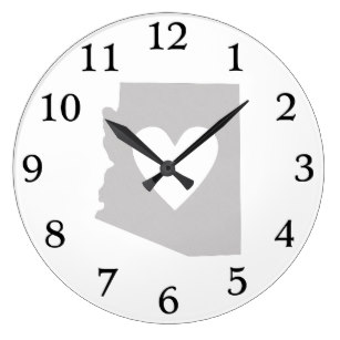 307x307 State Of Arizona Silhouette Wall Clocks Zazzle