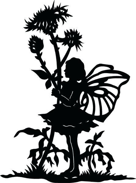 445x600 Fairy Silhouette Garden Fairy Garden Shadow Silhouette Garden