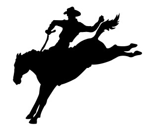 311x262 Cowboy Running Silhouette Dxf File Free Download