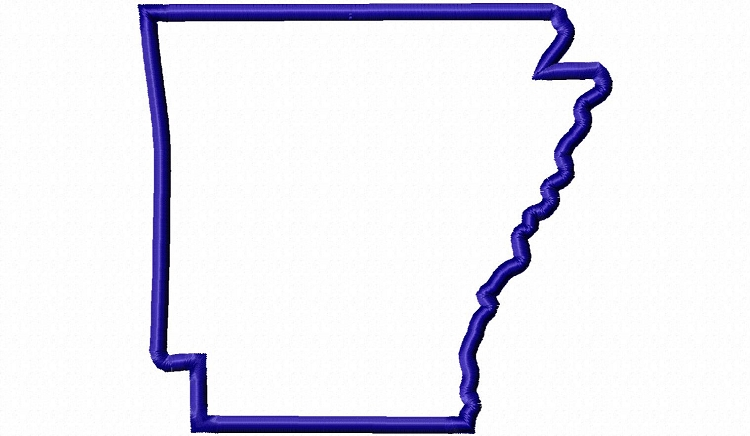 750x436 Applique State Of Arkansas Machine Embroidery Design