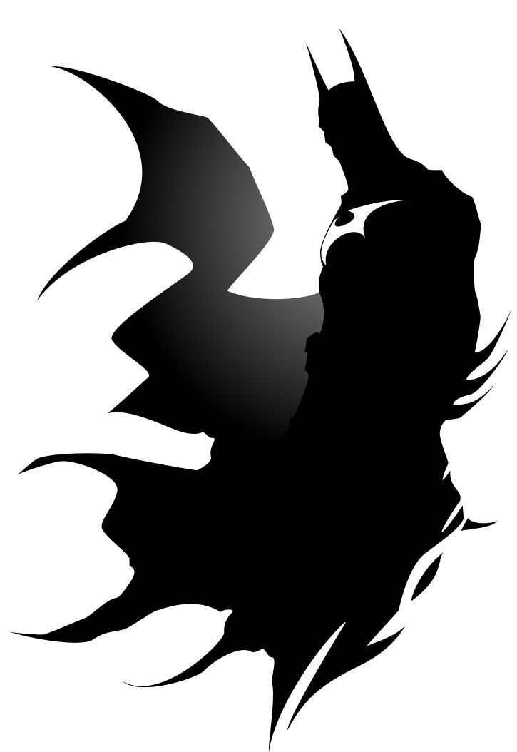 725x1054 Batman Silhouette By On @