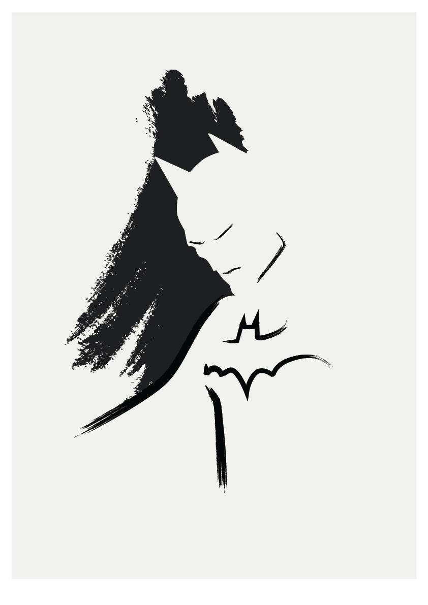 842x1191 Simple Paint Heros Villains Batman, Tattoo