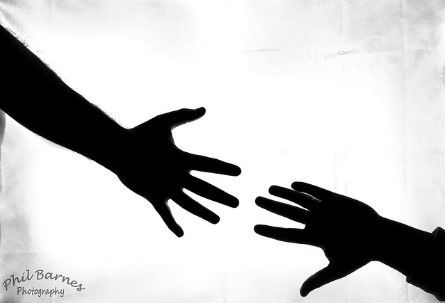 640x436 Clipart Silhouette Arm Reaching Out