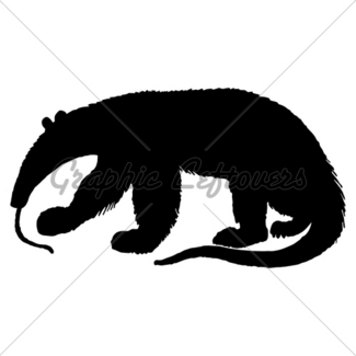 325x325 Armadillo Silhouette Gl Stock Images
