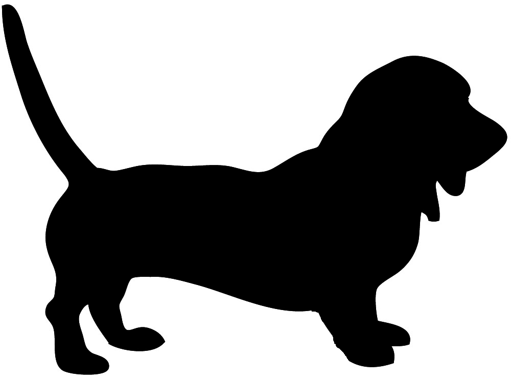 1000x744 Dog Sitting Silhouette Clipart