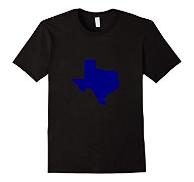 385x360 Texas Silhouette T Shirt Shape Of Texas In Blue Clothing