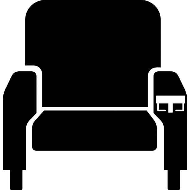 626x626 Cinema Seat Silhouette Icons Free Download
