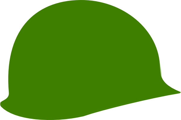 600x400 Green Soldier Helmet Clip Art