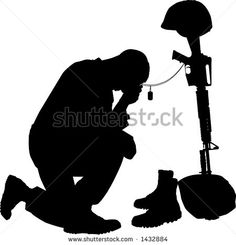 236x245 Saluting Army Soldier's Silhouette Isolated On White (Memorial Day