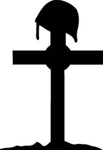 336x487 Military Vinyl Wall Decals Army Cross Vinyl Sticker
